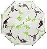 Doorzichtige kinderparaplu met aap