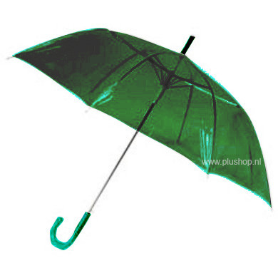 Transparante paraplu - Groen