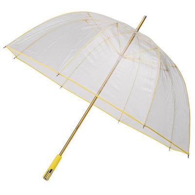 Doorzichtige golfparaplu Geel