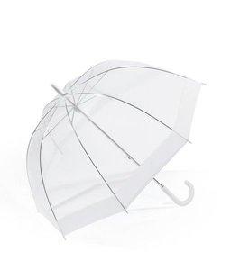 Happy Rain Doorzichtige paraplu met witte rand