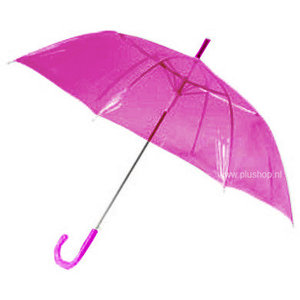 transparante-paraplu-roze