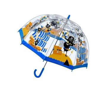 Bugzz doorzichtige paraplu piraat