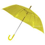 transparante-paraplu-geel